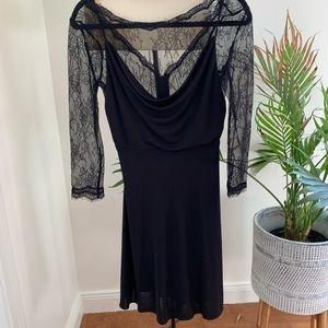 BCBGMAXAZRIA Black Kitty Cocktail Dress
